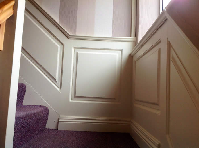 stairs panelling by wall panelling experts uk
