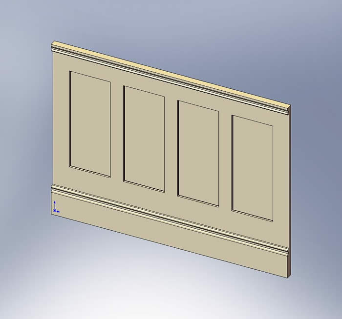 shaker wall panelling by wall panelling british made