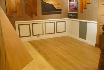 london ideal home  exhibition oak panelling