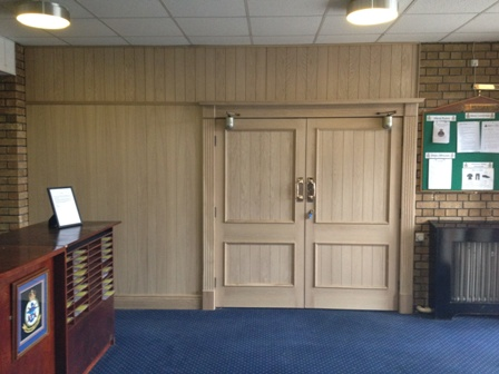 oak door recovering with tongue and groove at MOD leconfield