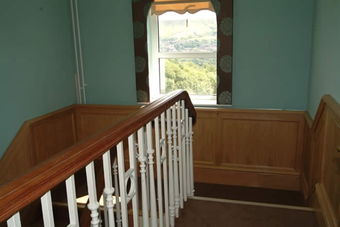 wood panelling for walls for landings by wall panelling experts for  rossendale hospice