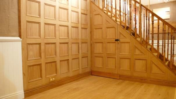 wood panelling for walls by wall panelling experts exhibition stand by wall panelling made in the uk