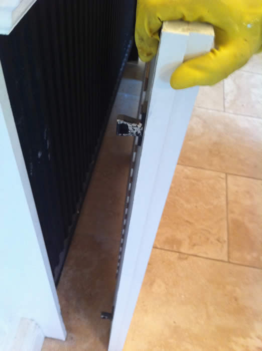 radiator covers  how to fix