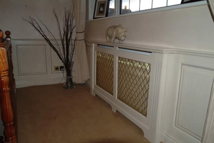 radiator cabinet ideas by wall panelling