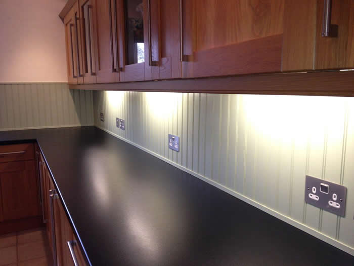 read and bead panelling kitchen transformation.