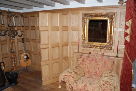 oak wall panelling by wall panelling experts made in the uk