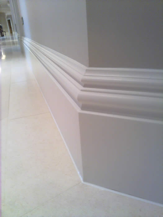 close up of our skirting prifile wall panelling expert