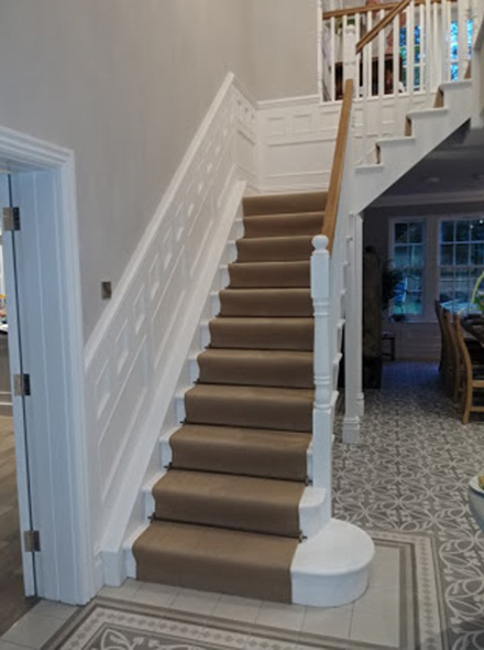 wall panelling for stairs and landing  made in Britain for home in cheshire
