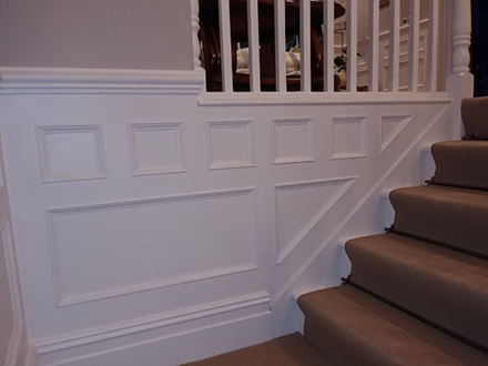 panelling for stairs made in britain for home in cheshire