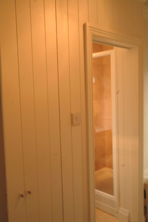 tongue and groove panelling at acorn cottage tenby south wales holiday cottage  with sykes cottages