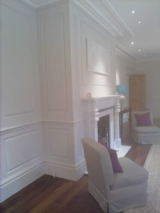 living room wall panels by wall panelling experts bellefield hall london