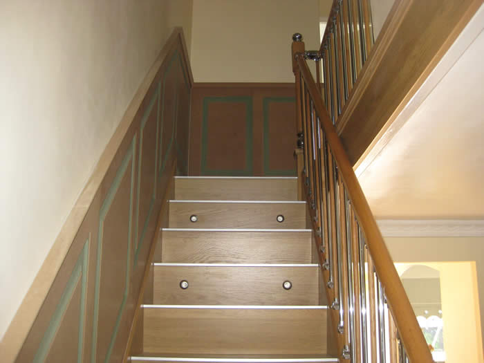 stairs wall panelling by wall panelling experts