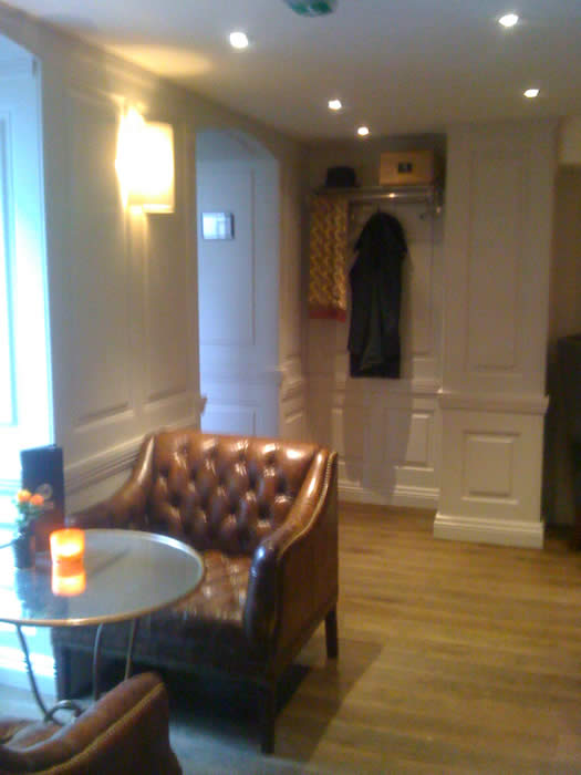wall panelling for the Halcyon Boutique Hotel Bath by the top UK's wall panelling experts