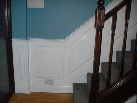 staircase wall panelling  ideas by wall paneling experts