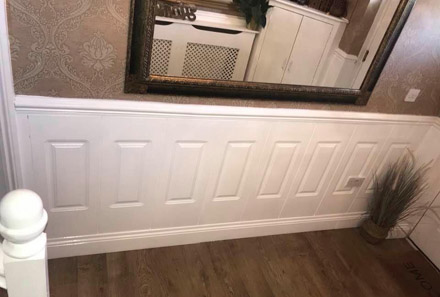 hallway georgian kit wall panelling made in Britian for a home in Lancashire near me