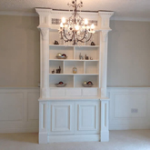bookcase and matching wall panelling made by the uks leading wall panelling experts made in Britain