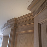 curved oak wall panelling for dining room belgravia london mde in Britain