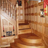 staircase oak wall panelling by wallpanelling made in britain Home in staffordshire
