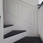 close up of Super Stylish Georgian panelling  for stairs made in Britain
