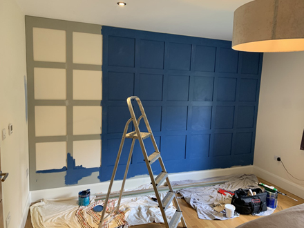 close up of diy shaker panelling made in Britain by wall panelling experts